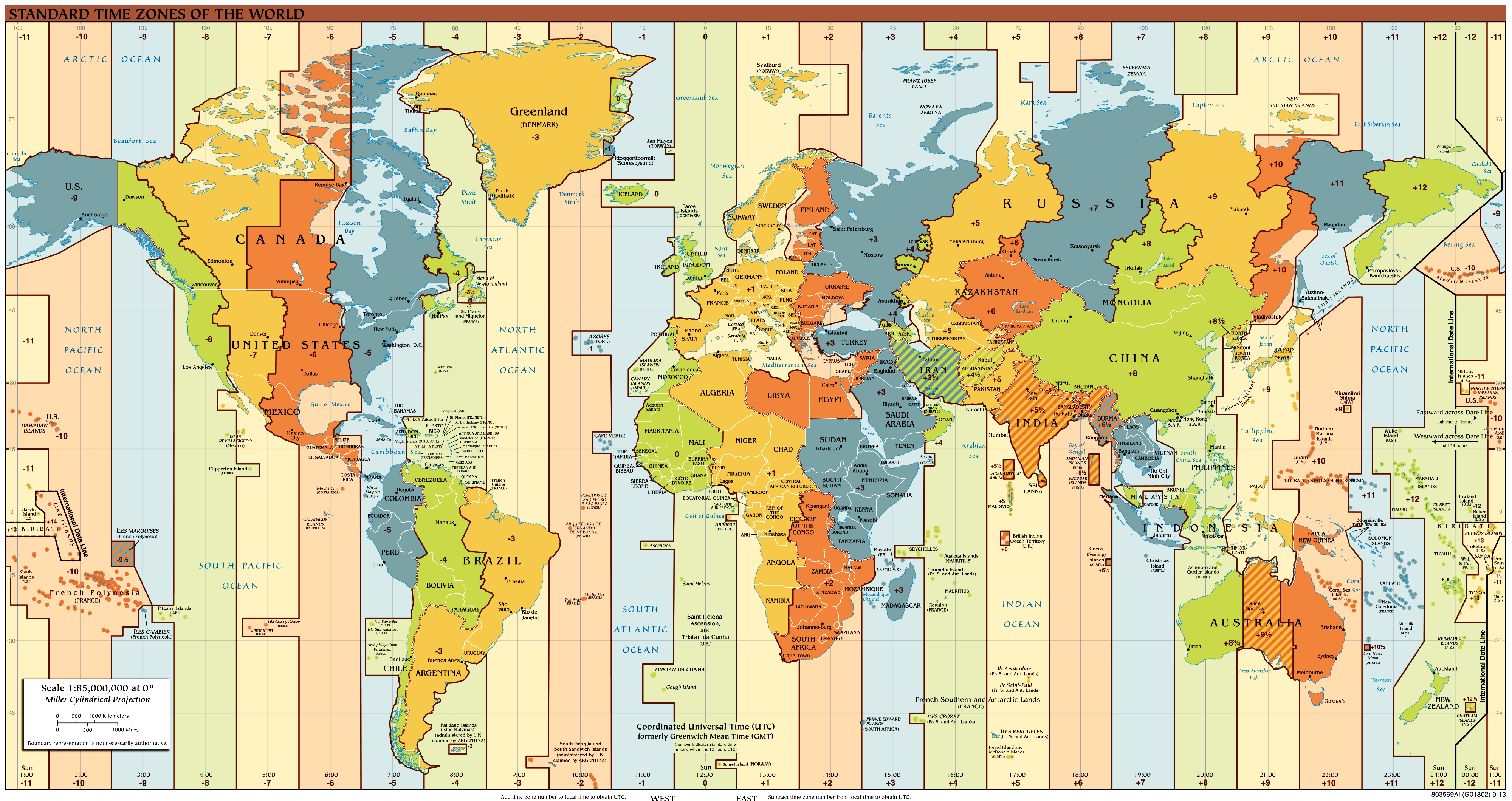 Time zones of the world time zones map of the world gumiabroncs Gallery