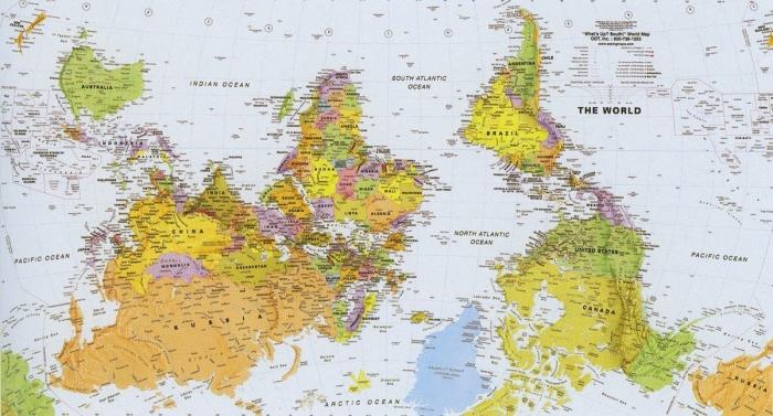 Перевёрнутая карта мира