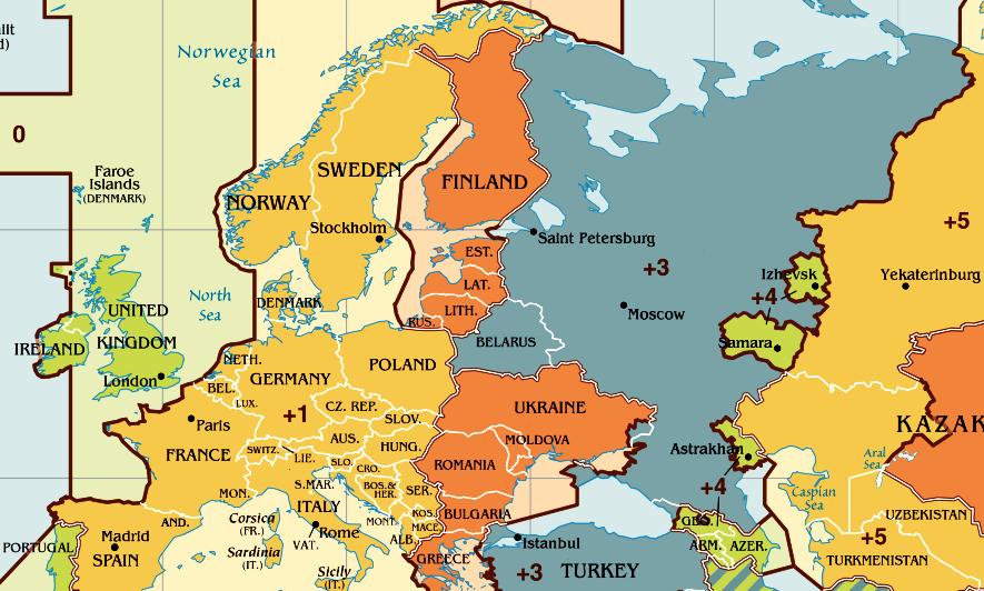 часовой пояс молдовы